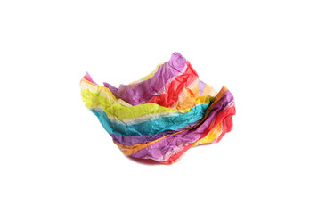 Crumpled colorful paper