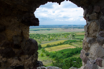 View from 13th century Boldogko castle in hungary