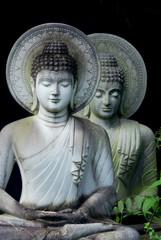 Limestone Buddha in Wat Pha Sawang Boon Nakornnayok Thailand