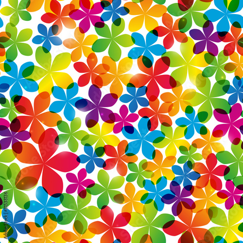 obraz lub plakat Seamless pattern with bright flowers