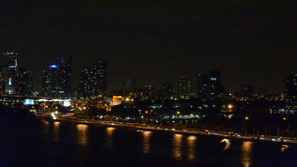 Miami Florida skyline at night