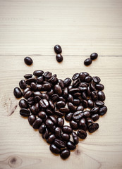 heart bean of coffee
