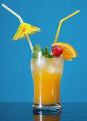Mojito  strawberries  cocktail.