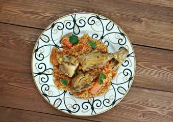 riz gras  poulet