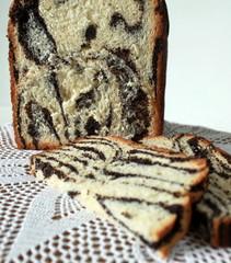 Striped cake slices