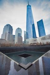 WTC Memorial Plaza, Manhattan, New York.