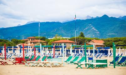 Forte dei Marmi beach, Versilia, Tuscany, Italy