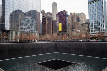 WTC Memorial Plaza, Manhattan, New York.
