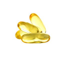 Fish oil isolated on white background