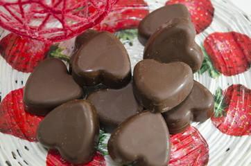 Heart shaped chocolate