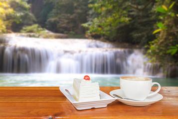 Coffee and Waterfall