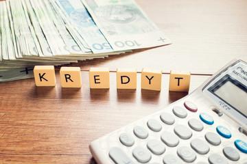 Kredyt - pożyczka - pieniądze - kapitał
