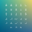 yoga icon set - 81541944
