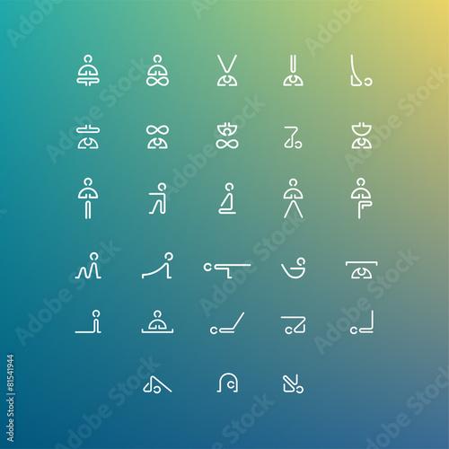 yoga icon set - 81541944