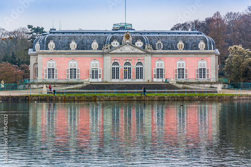 Leinwanddruck Bild Düsseldorf Benrath Schloss 01