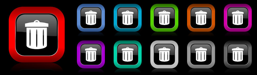 recycling vector icon set