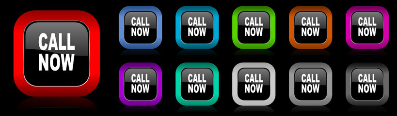 call now vector icon set