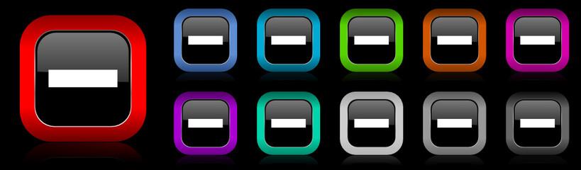 minus vector icon set