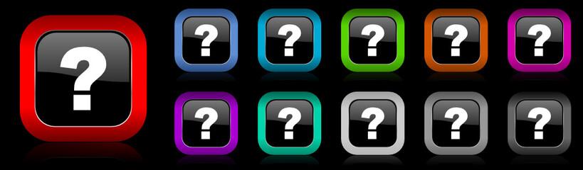 question mark vector icon set