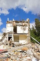Maison en cours de démolition