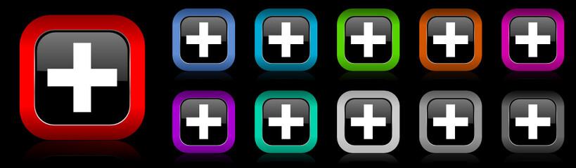 plus vector icon set