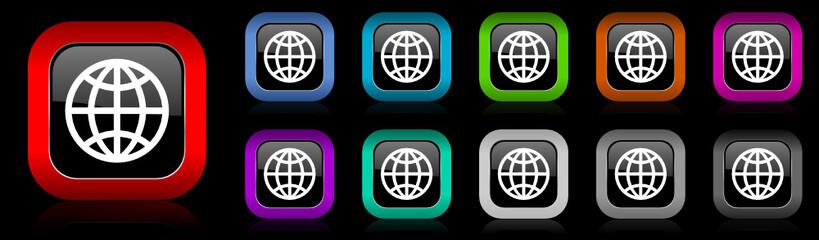 earth vector icon set