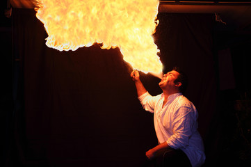 fire-eater flame