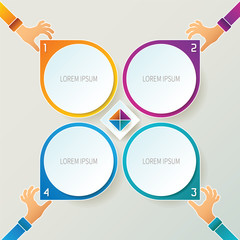 Abstract vector 4 steps infographic template
