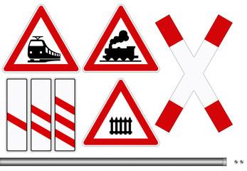 Bahn Schilder Set