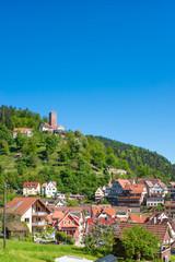 Stadtansicht mit Burg Liebenzell, Bad Liebenzell