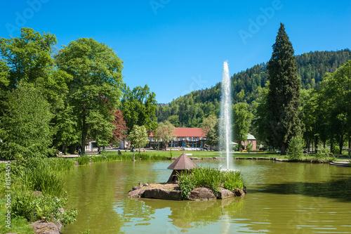 Leinwanddruck Bild Kurpark, Bad Liebenzell