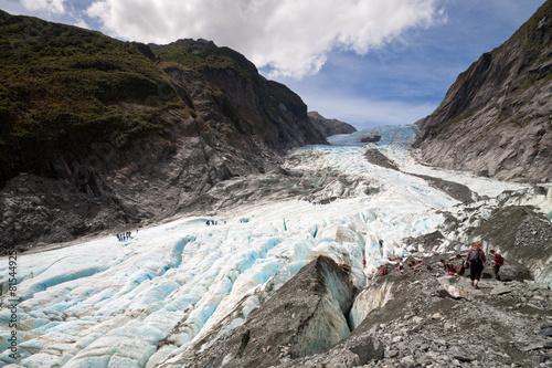 In de dag Gletsjers Scenic landscape at Franz Josef Glacier, New Zealand