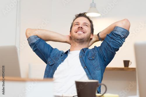 Leinwandbild Motiv Relaxed young man
