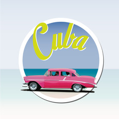 cuba vintage sticker