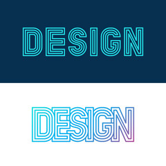 Vector design lettering in linear style