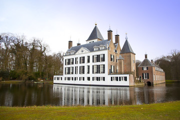 View at castle of Renswoude, The Netherlands