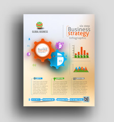 Infographic Business Flyer & Poster Design Element.