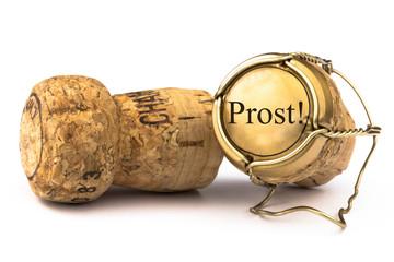 Champagnerkorken Prost!