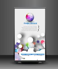 Modern Roll Up Banner Vector Design