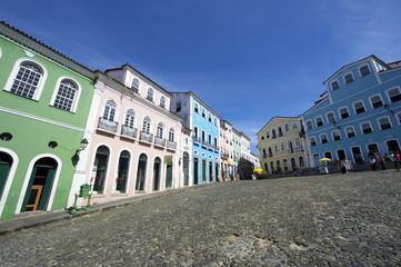 Colorful Colonial Architecture Pelourinho Salvador Brazil