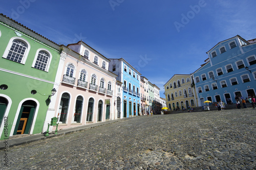 Colorful Colonial Architecture Pelourinho Salvador Brazil Canvas
