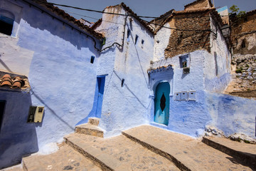Blue White Lane, Chefchaouen, Morocco