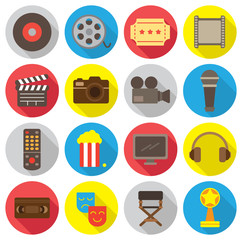 Movie flat icon