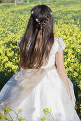 Girl with communion dress