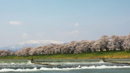 白石川と蔵王