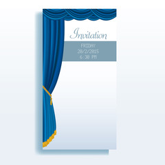 invitation blue stage