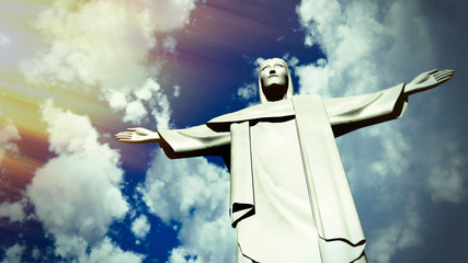 Christ the Redeemer statue in Ro de Janeiro