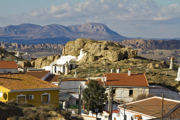 'La Barriada de Las Cuevas' in the north of the town Guadix