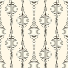 Seamless pattern with retro ornamental elements texture backgrou