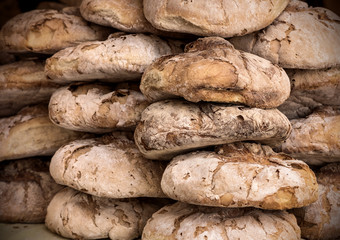 artisan rye bread loaves